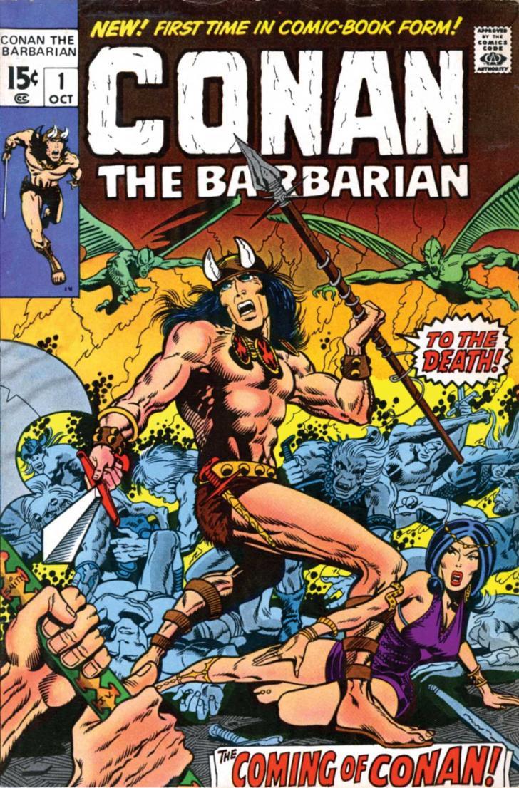<i>Conan the Barbarian</i>, couverture Marvel (octobre 1970)