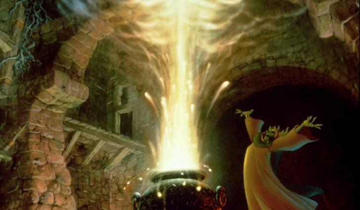 <i>Taram et le chaudron magique</i>, film d'animation de Ted Berman et Richard Rich, inspiré des « Chroniques de Prydain » de Lloyd Chudley Alexander (1985)