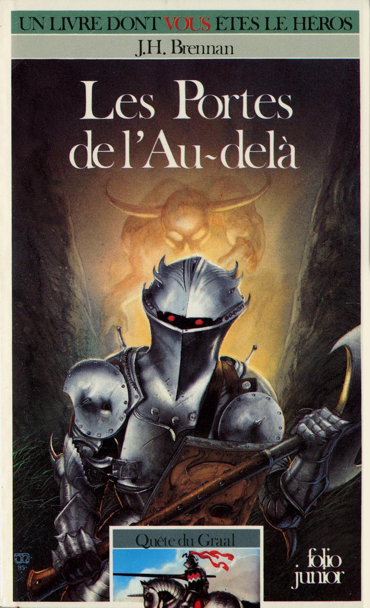 <i>Les Portes de l'Au-delà</i>, de J.H. Brennan, couverture illustrée par John Howe (1986)