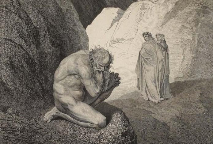 Pluton et Virgile, L'Enfer de Dante Alighieri, illustré par Gustave Doré (1861)