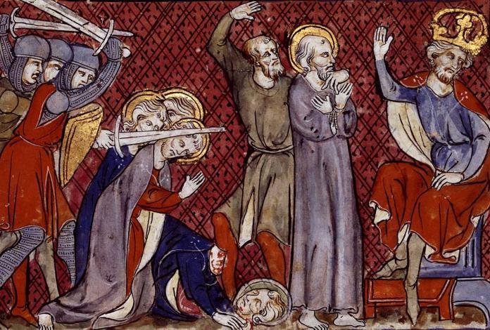 Condamnation de Saint Paul par Néron, Miroir historial dit du roi Jean le Bon (1333-1350)
