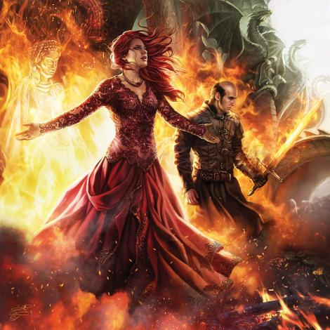 Mélisandre d'Asshaï, A Song of Ice and Fire Calendar, illustration de Magali Villeneuve (2016)