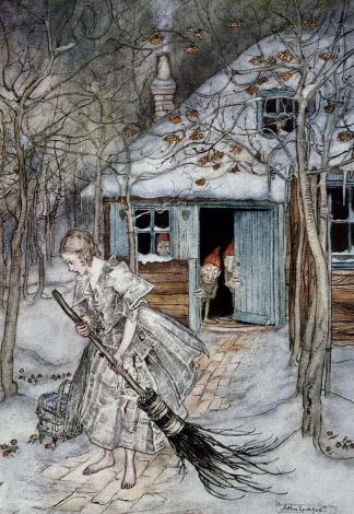 Printemps sur la neige, Arthur Rackham (1922)