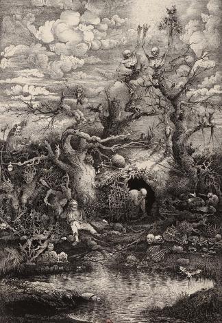 Comédie de la mort, Rodolphe Bresdin (1854)