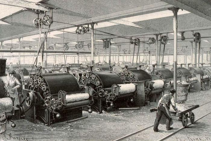 Spinning factory in Logelbach (1889)