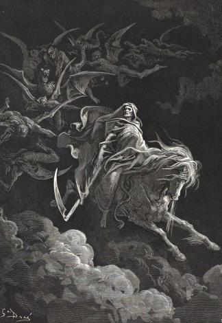 La mort vision de saint jean, La Sainte Bible, par Gustave Doré (1866)